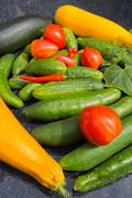 Health food vegetables isolated . Stock Photos