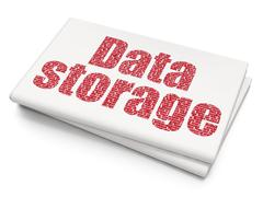 Stock Illustration of Data concept: Data Storage on Blank Newspaper background