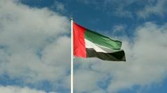 UAE flying flag Stock Footage