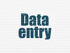 Data concept: Data Entry on wall background - stock illustration