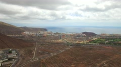 Aerial view over Los Cristianos Stock Footage