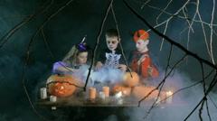 Little Dark Magicians Stock Footage