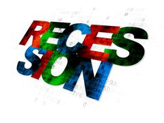 Stock Illustration of Business concept: Recession on Digital background