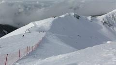 Third peak Aigbi in the Caucasus Mountains Stock Footage