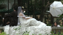 Wedding photographer, bride & groom, China - stock footage