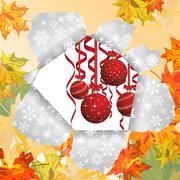 Christmas after autumn Stock Illustration