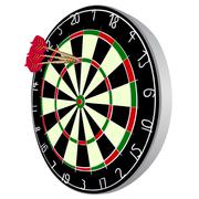 Darts aim Stock Illustration