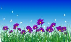 Meadow color background - stock illustration