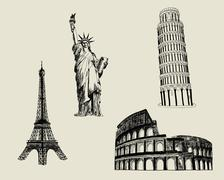 Sketch Landmark - stock illustration
