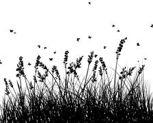Meadow background - stock illustration