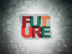 Time concept: Future on Digital Paper background Stock Illustration