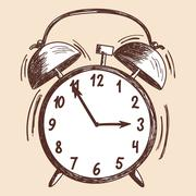 Alarm clock sketch Stock Illustration