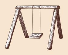 Swing sketch Stock Illustration