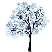Winter tree - stock illustration