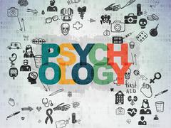 Medicine concept: Psychology on Digital Paper background Stock Illustration