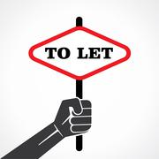 To let placard hold in hand stock vector Stock Illustration
