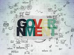 Stock Illustration of Politics concept: Government on Digital Paper background