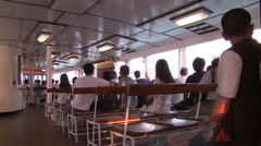 Ferry passengers, Hong Kong, China Stock Footage