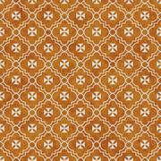 Orange and White Maltese Cross Symbol Tile Pattern Repeat Background - stock illustration