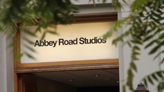 Abbey Road Studios Sign - Famous London Music Studio HD - stock footage