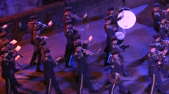 America military parade. Air Force. Musicians and performers Stock Footage