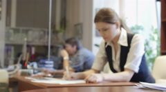 Successful office workers are busy Stock Footage