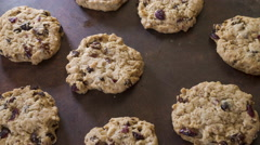 Cranberry cookies, rotating, stop motion animation Stock Footage