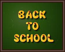 Classroom blackboard Stock Illustration