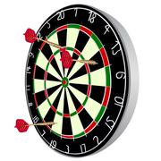 Darts aim - stock illustration