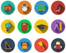 Set of school icons Piirros