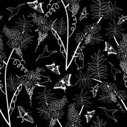 Seamless floral ornate - stock illustration