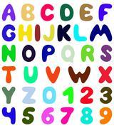 Funny font design Stock Illustration