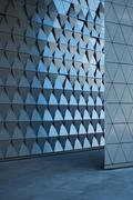 Stock Photo of Architectural Wall Design at the Empty Lobby