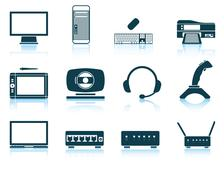 Set of hardware icons Stock Illustration