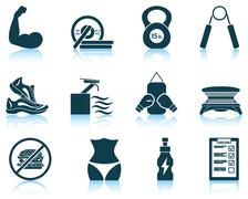 Set of fitness icons Stock Illustration