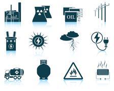 Set of energy icons. Stock Illustration