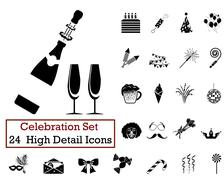 24 Celebration Icons - stock illustration