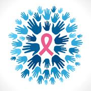 AIDS awareness concept background vector Stock Illustration