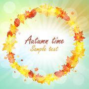 Stock Illustration of Autumn  Frame