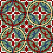 Geometric chinese seamless pattern Stock Illustration