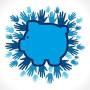 Save money concept vector Stock Illustration