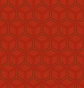 Geometric chinese seamless pattern - stock illustration