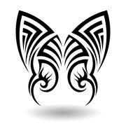 Hand Drawn Tribal Tattoo - stock illustration