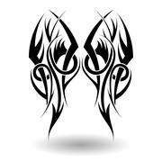 Hand Drawn Tribal Tattoo Stock Illustration