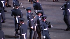 Royal Air Force demonstration. Military parade at Edinburgh Castle. Scotland Stock Footage