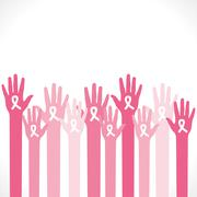Aids symbol in hand to aware people background vector Stock Illustration