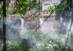 Nebulization system water Stock Photos