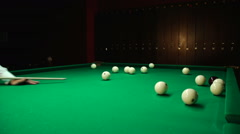 Strike the cue ball for Stock Footage