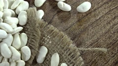 White Beans (seamless loopable) Stock Footage
