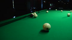 The game of billiards Stock Footage